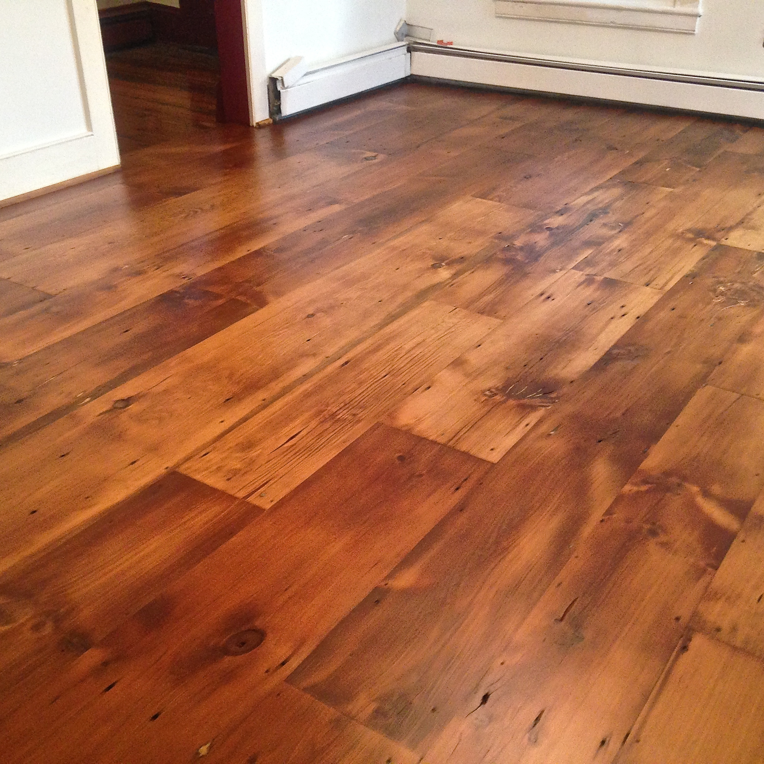 Wide plank reclaimed flooring authentic antique lumber for Recycled hardwood floors